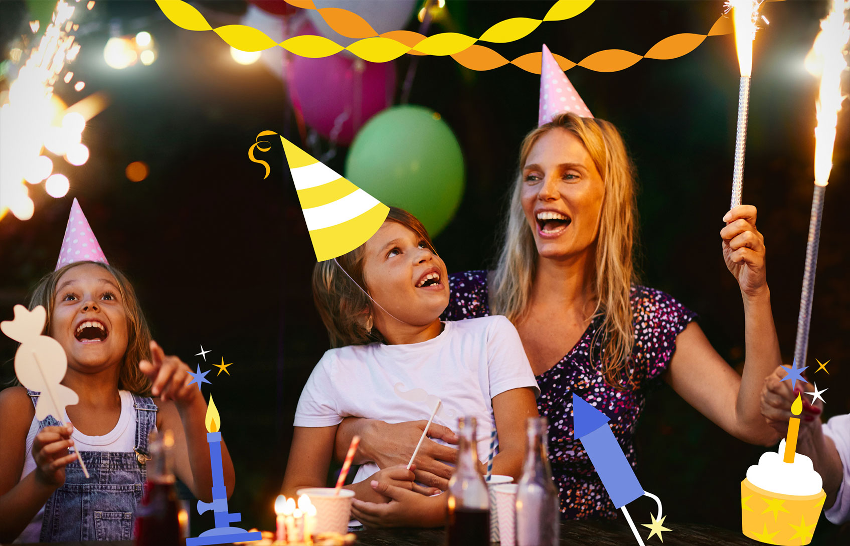 Child and Parent Enjoying a Nanogirl Party