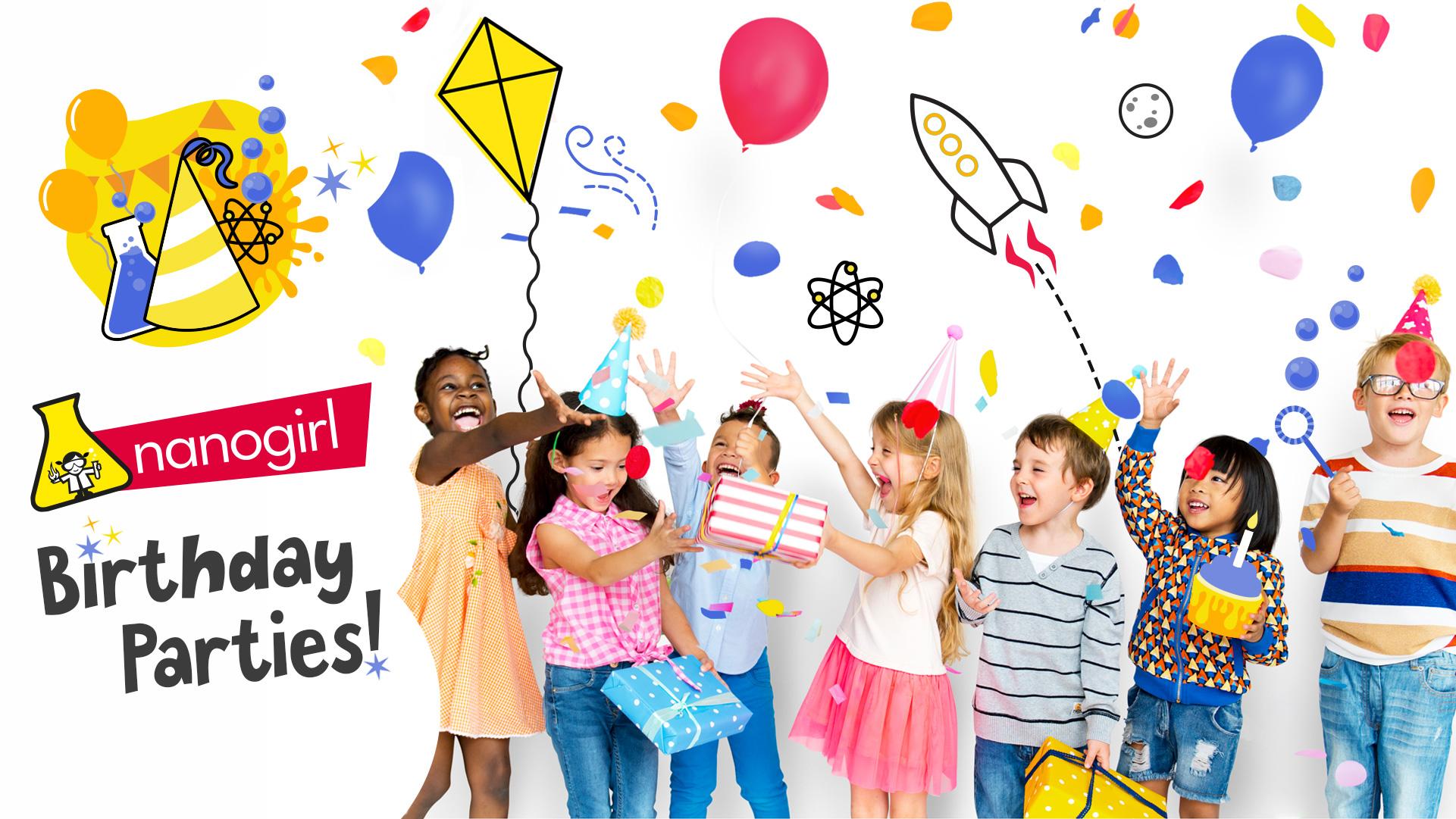 Nanogirl Birthday Parties Promotion Image