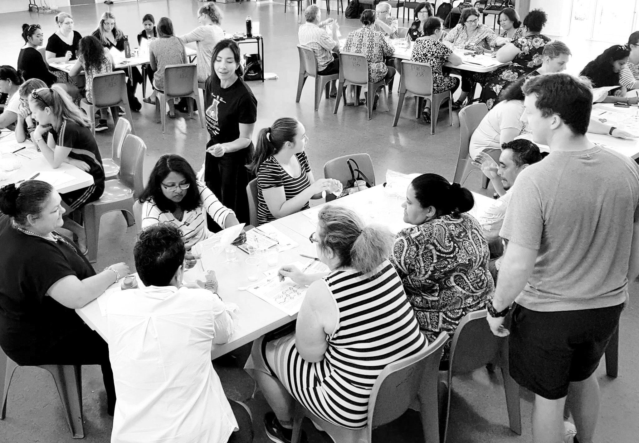 Teachers at a Nanogirl PLD Workshop